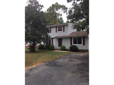 Chesterfield VA Single Family Home For Sale: $185,000