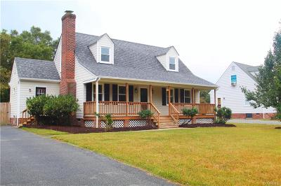 Mechanicsville VA Single Family Home For Sale: $211,999