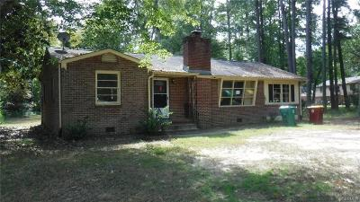 Petersburg Single Family Home For Sale: 614 Hoke Drive