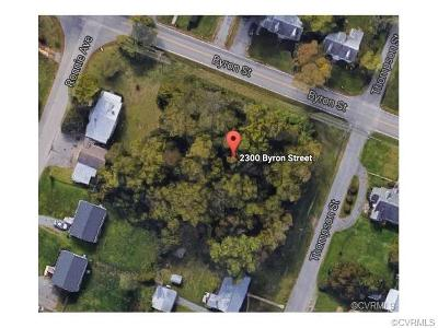 Henrico County Residential Lots & Land For Sale: 2300 Byron Street