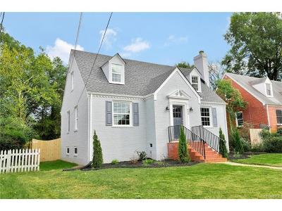 Richmond Single Family Home For Sale: 823 Westover Hills Boulevard