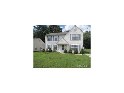 Chesterfield VA Single Family Home For Sale: $189,900