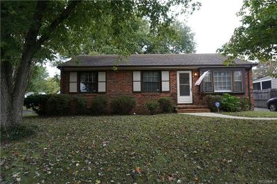 Chesterfield VA Single Family Home For Sale: $155,000