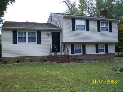 Chesterfield VA Single Family Home For Sale: $159,500