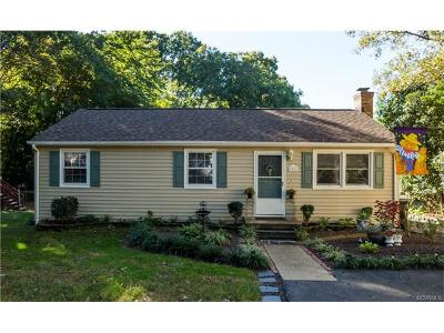Chesterfield VA Single Family Home For Sale: $159,000