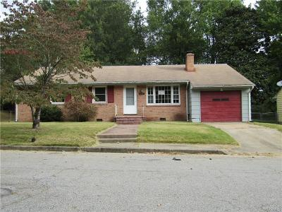 Hopewell VA Single Family Home For Sale: $79,200