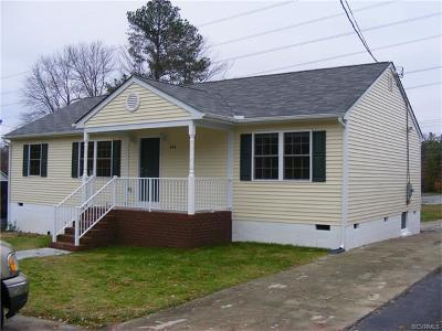 Richmond VA Single Family Home For Sale: $164,950