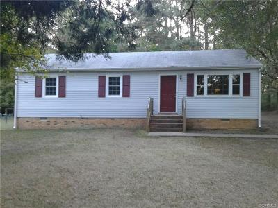 Chesterfield VA Single Family Home For Sale: $139,900