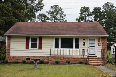 Petersburg Single Family Home For Sale: 750 Hampton Road