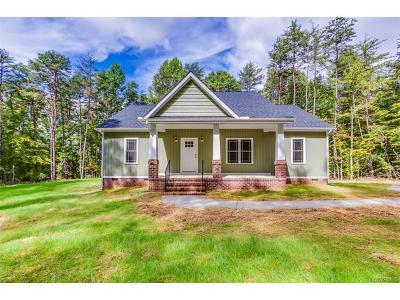 Goochland Single Family Home For Sale: 1644 Cartersville Road