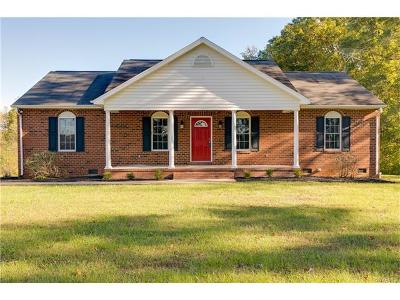 Hanover County Single Family Home For Sale: 19172 Woodsons Mill Road