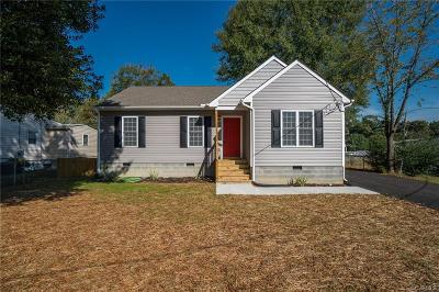 Colonial Heights VA Single Family Home For Sale: $165,000