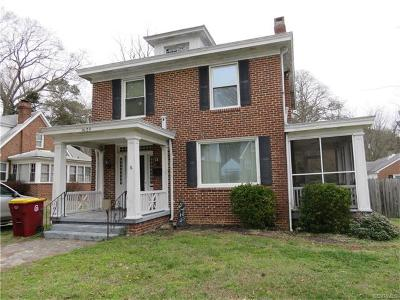 Petersburg Single Family Home For Sale: 1909 Berkeley Avenue