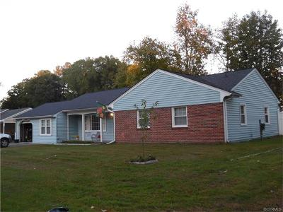 Colonial Heights VA Single Family Home For Sale: $193,900