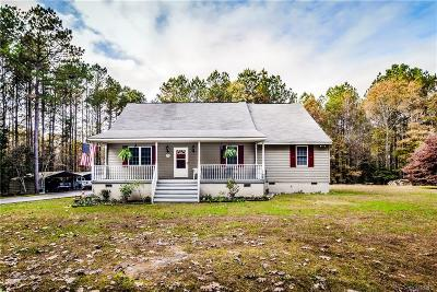 Sutherland VA Single Family Home For Sale: $259,900