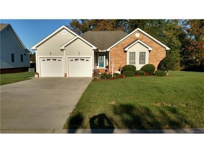 Prince George VA Single Family Home For Sale: $269,950
