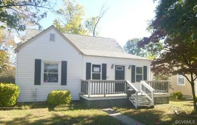 Colonial Heights VA Single Family Home For Sale: $68,000