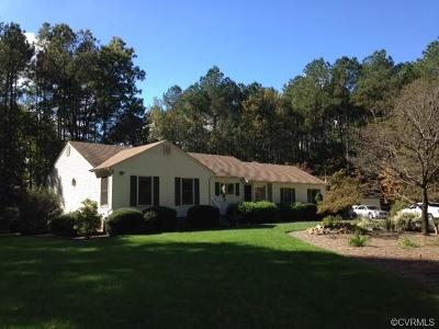 Dinwiddie Single Family Home For Sale: 15715 Old Mill Road