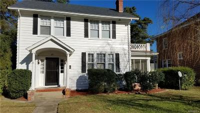 Petersburg Single Family Home For Sale: 1811 Matoax Avenue