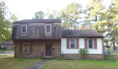 Colonial Heights VA Single Family Home For Sale: $95,000