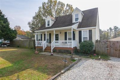 Prince George VA Single Family Home For Sale: $169,900