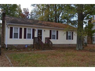 Chesterfield VA Single Family Home For Sale: $137,500