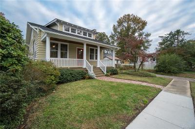 Richmond Single Family Home For Sale: 4011 Monticello Street