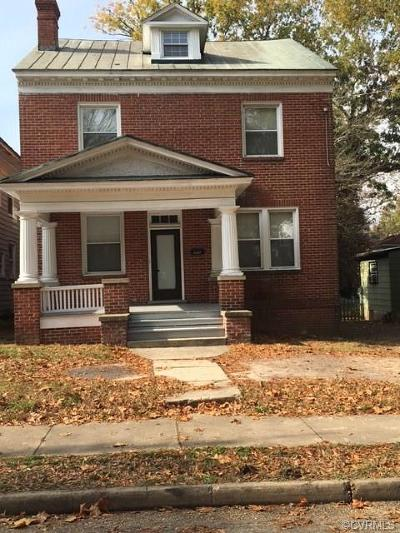 Petersburg Single Family Home For Sale