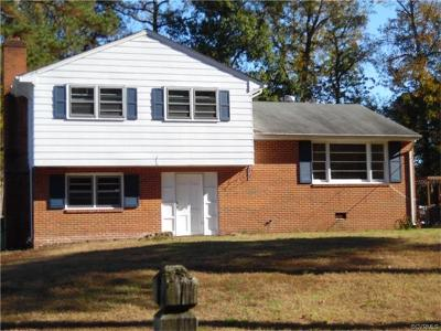 Colonial Heights VA Single Family Home For Sale: $129,999