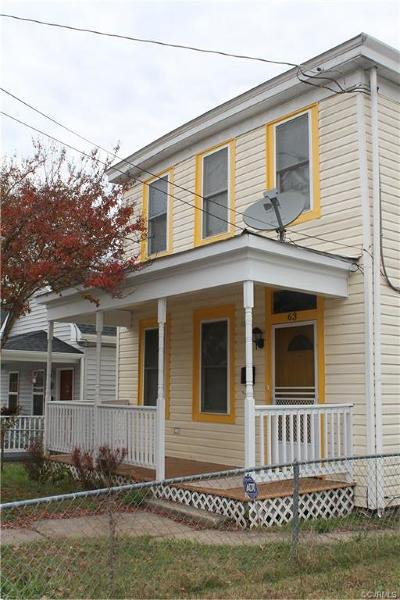 Richmond Single Family Home For Sale: 63 West 27th Street