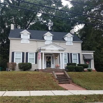 Petersburg Single Family Home For Sale: 307 North Boulevard