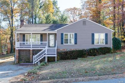 Chesterfield VA Single Family Home For Sale: $143,000