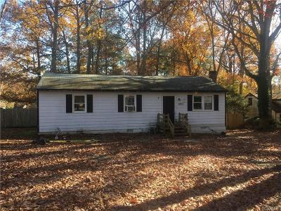 Chesterfield VA Single Family Home For Sale: $65,000