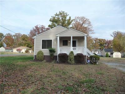 North Chesterfield VA Single Family Home Sold: $122,500