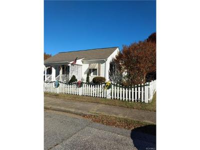 Hopewell VA Single Family Home For Sale: $68,500