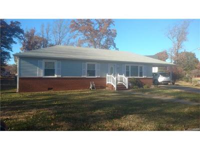 Hopewell VA Single Family Home For Sale: $169,500