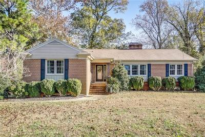 Colonial Heights VA Single Family Home For Sale: $289,000