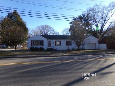 Hopewell VA Single Family Home For Sale: $64,900