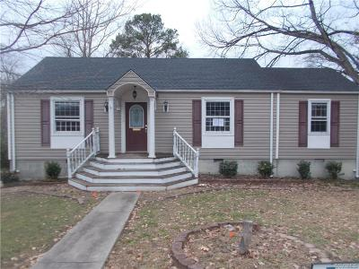 Richmond Single Family Home For Sale: 1726 Westhill Road