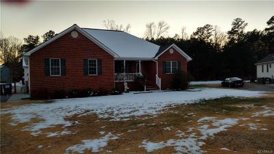 Prince George VA Single Family Home For Sale: $335,000