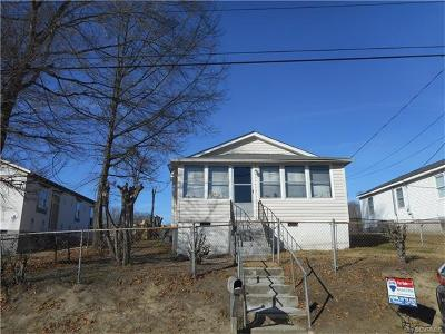 Hopewell VA Single Family Home For Sale: $62,500