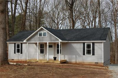 Amelia VA Single Family Home For Sale: $179,000