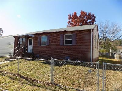 Hopewell VA Single Family Home For Sale: $49,900
