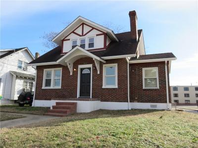 Hopewell VA Single Family Home For Sale: $119,900