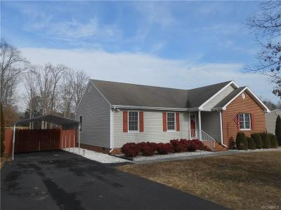 Prince George VA Single Family Home For Sale: $195,000