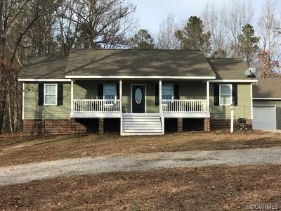 Dinwiddie Single Family Home For Sale: 12808 Ruth Hill Road
