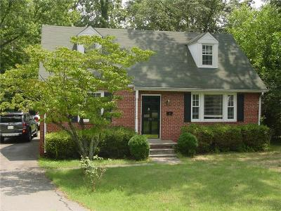 Henrico County Rental For Rent: 1517 Skipwith Road