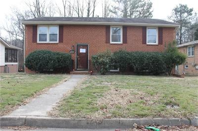 Petersburg VA Single Family Home Pending: $70,000