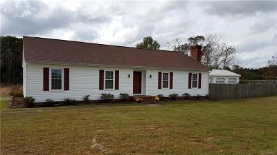 King William Single Family Home For Sale: 13544 King William Road