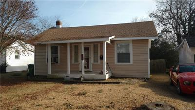 Hopewell VA Single Family Home For Sale: $66,500